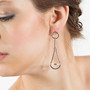 Pendulum Earrings on model, Contemporary Jewelry by Cheryl Eve Acosta