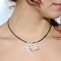 Geometric Pendant on model, Contemporary Jewelry by Cheryl Eve Acosta