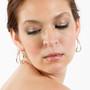 Pod Earrings on model, Modern Jewelry by Cheryl Eve Acosta