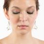 Flute Earrings on model, Modern Jewelry by Cheryl Eve Acosta