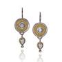Diamond Dangle Disc Earrings, Fine Art Jewelry by CORNELIA GOLDSMITH