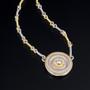 Small Disc Necklace, Fine Art Jewelry by CORNELIA GOLDSMITH
