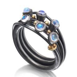 Vine Ring 2, Handmade Art Jewelry  by Christine Mackellar