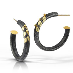 Anticlastic Hoop Earrings, Hnadmade art Jewelry by Christine Mackellar
