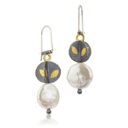 Small Descending Blossom Earrings, Handmade Art Jewelry by Christine Mackellar
