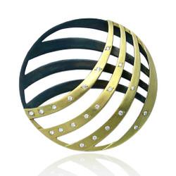 Moire Unity Pin/Pendant, Modern Jewelry by Keiko Mita