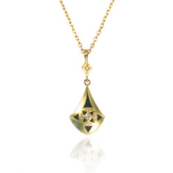 Moire Tear Drop Pendant, Modern Jewelry by Keiko Mita