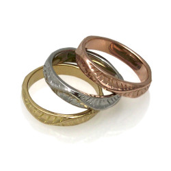Sand Dune Stackable Ring, Fine Art Jewelry by Keiko Mita