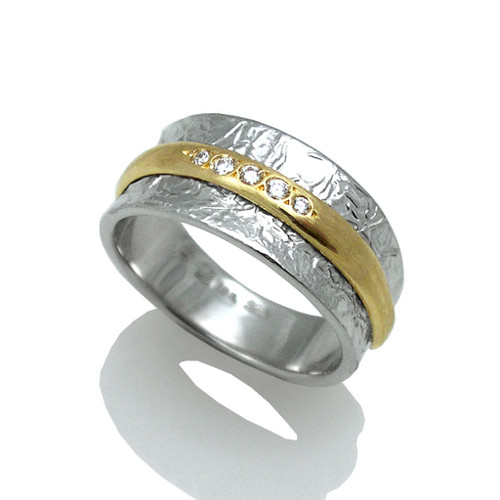 Washi Double Band Ring, Modern Jewelry by Keiko Mita