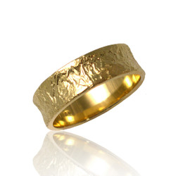 Washi Concaved Band Ring, Modern Jewelry by Keiko Mita