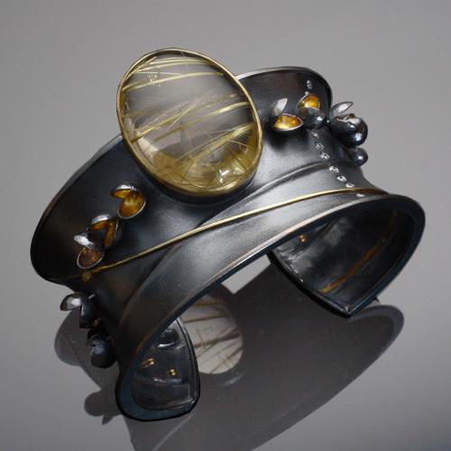 Flourishing Cuff, Modern Art Jewelry by Liaung-Chung Yen