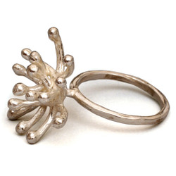 Starburst Sterling Silver Ring, Modern Art Jewelry by Liaung-Chung Yen