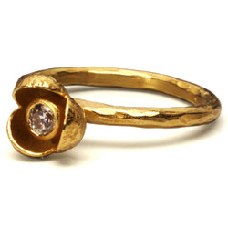 Gold Petal Ring, Modern Art Jewelry by Liaung-Chung Yen