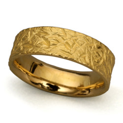 Textured Band Ring 6.0, Handmade Modern Jewelry by Liaung-Chung Yen