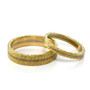 Two Tone Textured Band Ring 5.0 and 3.0, Handmade Modern Jewelry by Liaung-Chung Yen