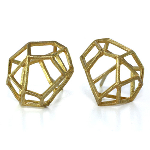 Rock Shaped Studs, Contemporary Jewelry by Liaung-Chung Yen