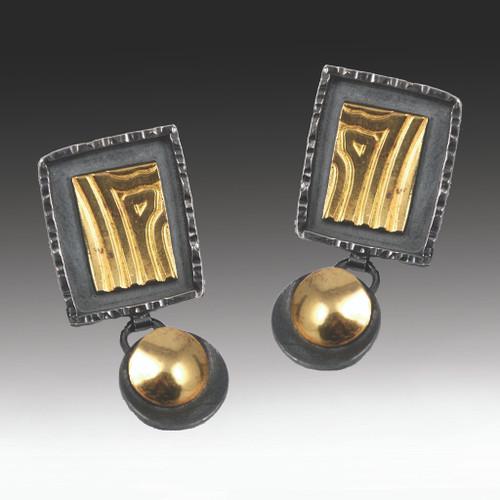 Elegant Rectangular Drop Earrings, Handmade Art Jewelry by Lori Gottlieb