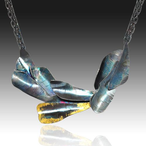 Curly Bark Necklace, Handmade Art Jewelry by Lori Gottlieb