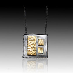 Elegant Square Necklace, Art Jewelry by Lori Gottlieb