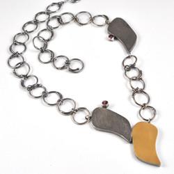 Teardrop Necklace, Art Jewelry by Lori Gottlieb