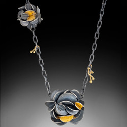 Desert Rose Necklace, Art Jewelry by Lori Gottlieb