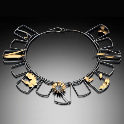 Frames Necklace v2, Art Jewelry by Lori Gottlieb