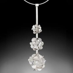 Desert Rose Necklace v3, Art Jewelry by Lori Gottlieb