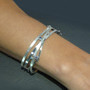 Random Order Medium Cuff on model, Contemporary Jewelry by Maressa Tosto Merwarth