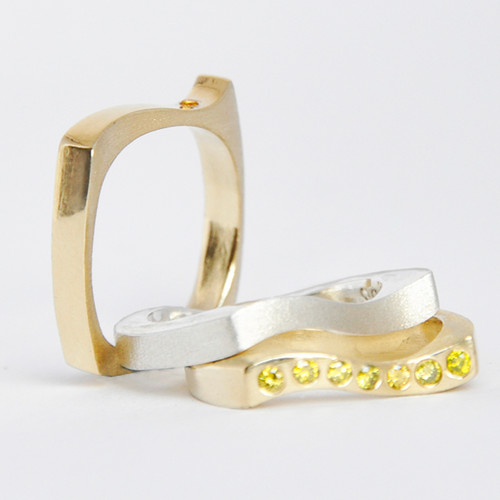 Onde Stackable Rings, Contemporary Jewelry by Maressa Tosto Merwarth