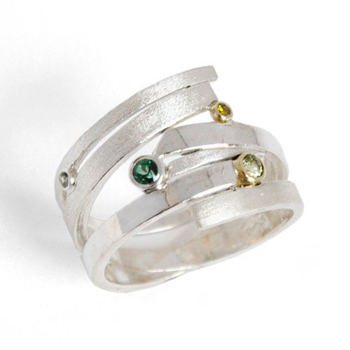 Random Order Ring, Contemporary Jewelry by Maressa Tosto Merwarth