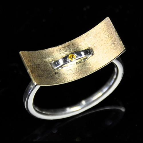 Breaking Through Ring - Yellow Sapphire, Contemporary Jewelry by Maressa Tosto Merwarth