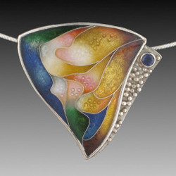 Graceful Triangle Necklace, Modern Art Jewelry by Sheila Beatty