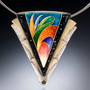 Bird of Paradise Necklace, Modern Art Jewelry by Sheila Beatty