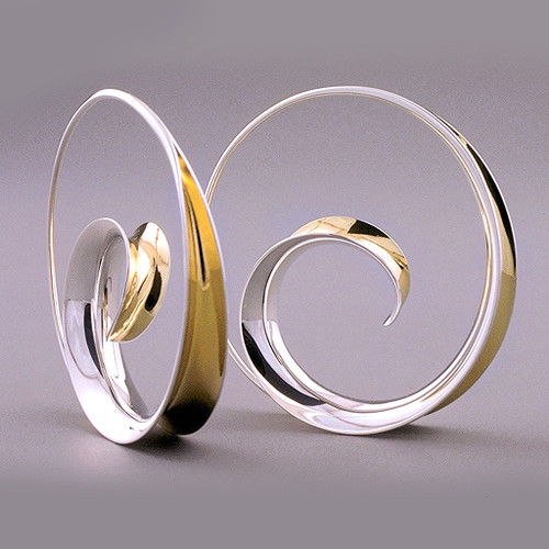 Spiral Hoops by Nancy Linkin, Contemporary Jewelry