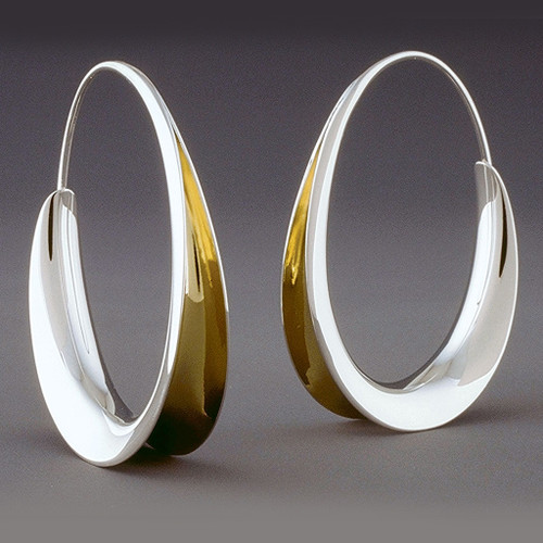 Flared Hoops, Contemporary Jewelry by Nancy Linkin