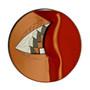 Teeth/Beak Brooch, Contemporary 3D Brooch by David LaPlantz