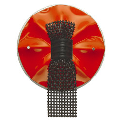 Red Black/Mesh Brooch, Contemporary 3D Brooch by David LaPlantz