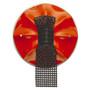 Red Black/Mesh Brooch, Contemporary 3D Brooch by David LaPlantz