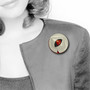Heart Eye Brooch on Model, Contemporary 3D Brooch by David LaPlantz