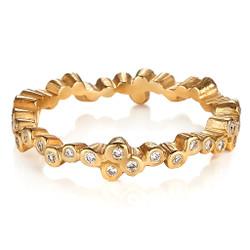 Cascading Stone Ring by Ayesha Mayadas, Handmade Modern Jewelry