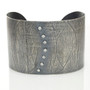 Wafer Diamonds Cuff; Handmade Modern Rustic Jewelry by Ayesha Mayadas