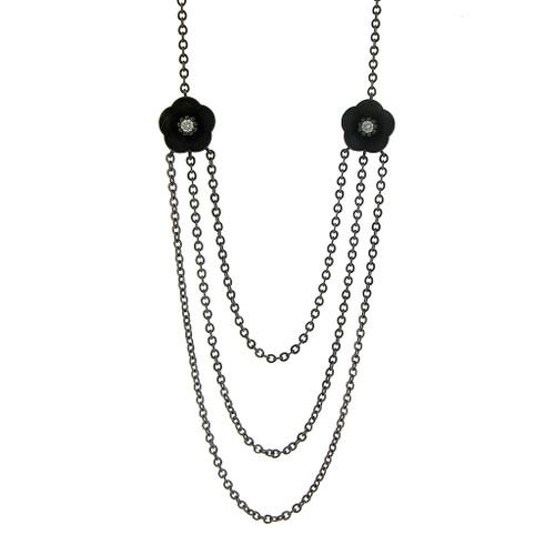Cherry Blossom Necklace, Modern Designer Jewelry by Catherine Iskiw