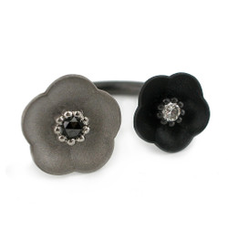 Double Cherry Blossom Ring, Modern Jewelry by Catherine Iskiw