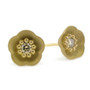 Small Gold Cherry Blossom Studs, Modern Jewelry by Catherine Iskiw