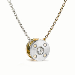 Reversible Rivet Pendant, Contemporary Jewelry by Catherine Iskiw