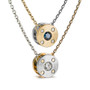 Reversible Rivet Pendant :Front and Back, Contemporary Jewelry by Catherine Iskiw
