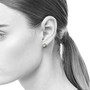 Rivet Studs on Model, Contemporary Jewelry by Catherine Iskiw