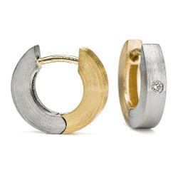 Reversible Everyday Diamond Hoops, Contemporary Jewelry by Catherine Iskiw