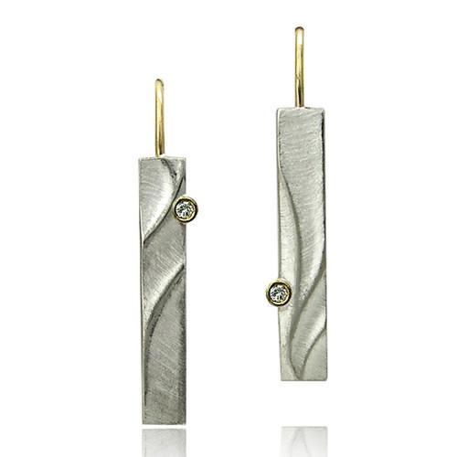 Echo Dangle Earrings, Modern Art Jewelry by Keiko Mita