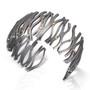 Transverse Wave Bracelet, Modern Art Jewelry by Lori Gattlieb